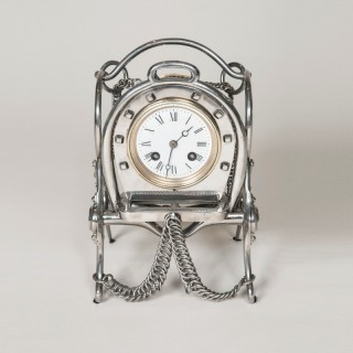 EQUESTRIAN CLOCK BY JAPY FRÈRES, CIRCA 1890.