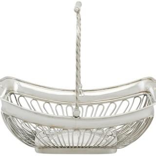 Sterling Silver Basket - Antique George III (1806)