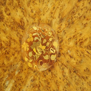 Inlaid Yew Breakfast Table Likely by Gillows