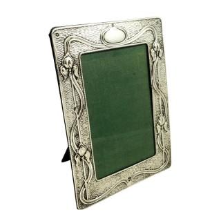 Antique Art Nouveau Sterling Silver Photo Frame 1904