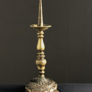 17th Century Brass Pricket Stick