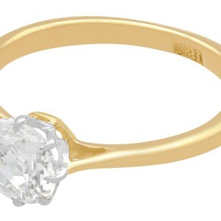 0.75 ct Diamond and 18 ct Yellow Gold Solitaire Ring - Antique Circa 1920