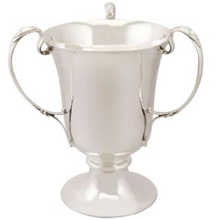 Sterling Silver Presentation Cup / Bottle Holder - Art Nouveau - Antique Edwardian (1905)