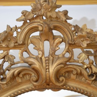 A Large 19th Century Giltwood Wall Mirror