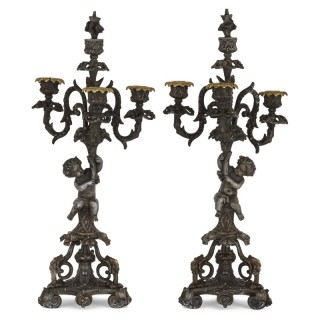 Pair of Second Empire period candelabra