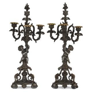 Pair of Second Empire period candelabra
