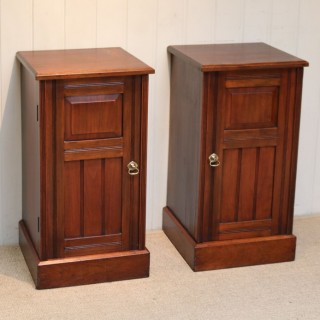 Pair Of Walnut Bedside Cabinets