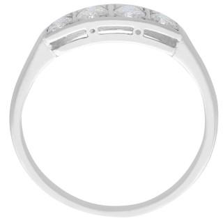0.35 ct Diamond and 14 ct White Gold Dress Ring - Antique Circa 1930
