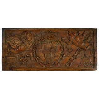 Carved poplar panel from a betrothal chest, Italy circa 1700