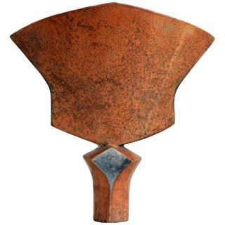 Ceramic vase of sculptural form, Elizabeth Raeburn, (British, 1943 - present)