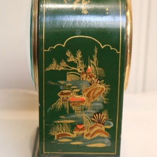 Green Chinoiserie Mantel Clock
