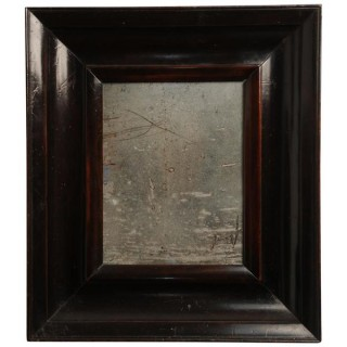 Ebonised fruitwood frame mirror, Dutch circa 1750