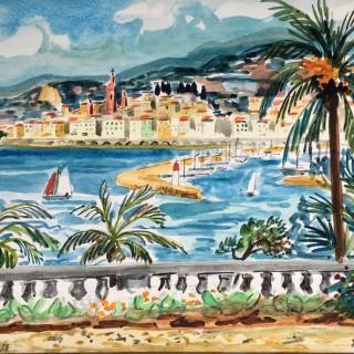 Vue de Menton by Yves Brayer (1907 – 1990)