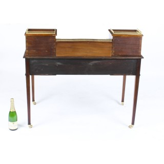 Antique Edwardian Mahogany & Marquetry Writing Table Desk Circa 1900