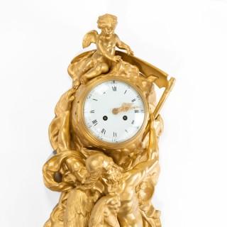 An Ormolu Cased Cartel Clock By Vincenti & Cie