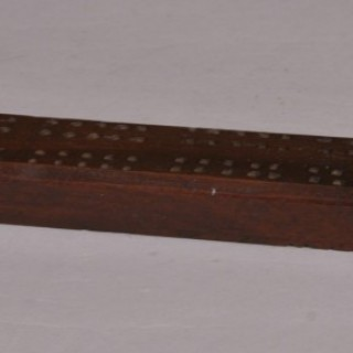 Antique Treen 19th Century Mahogany Cribbage Board