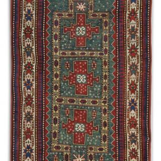 Antique Caucasian Zazak Rug 216x114cm