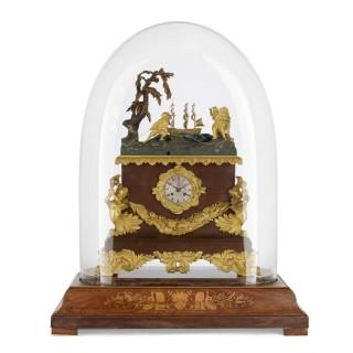 French gilt bronze mounted marine themed automaton mantel clock