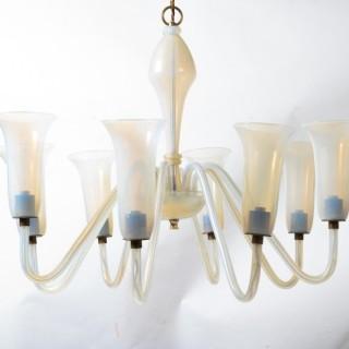 Art Deco Murano hanging light