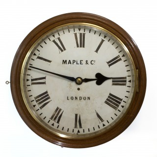 18-inch dial fusee Dial Clock by Maple and Co.