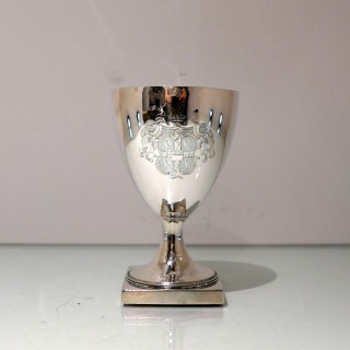 18th Century Antique George III Sterling Silver Wine Goblet London 1787 Hester Bateman