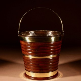 An Early Dutch Cuba Mahogany And brass Bound Bucket/ Jardinière First half 19th century.