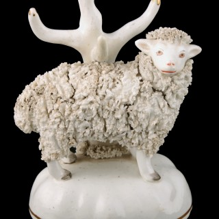 Pair of Victorian Staffordshire Sheep