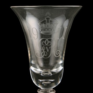 George V Coronation Coin Goblet