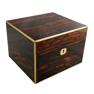 Coromandel & Brass Jewellery Box