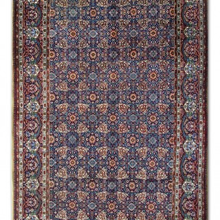 Antique Persian Qum Rug 137x 207cm