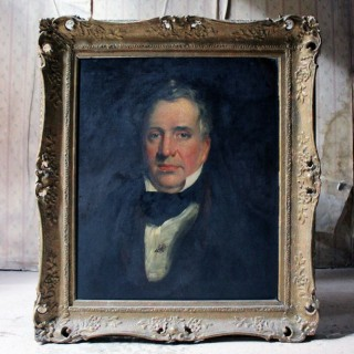 A 19thC English School Oil on Board Portrait of a Gentleman c.1870