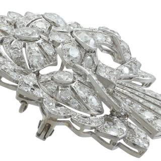 4.57 ct Diamond and Platinum Spray Brooch - Art Deco - Antique Circa 1930