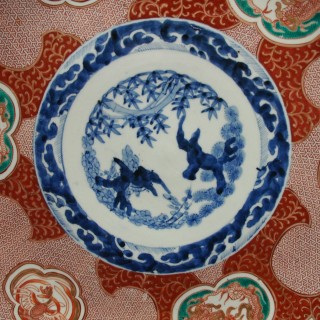 Matched Pair of Imari Chargers on Stands