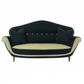 A THREE SEAT ITALIAN SOFA OF UNUSUAL DESIGN