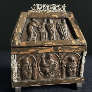 Carved Casket 17th/18th century