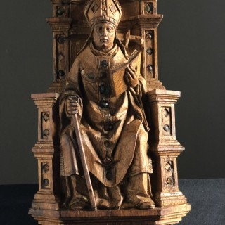 Woodcarving of Thomas Becket of Canterbury 16th Century Flemish