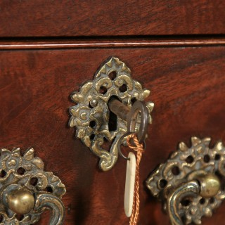 Antique English Georgian Chippendale Mahogany Inlaid Tallboy / Chest on Chest (Circa 1790)