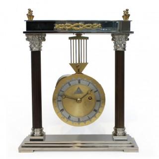 Dent of London Portico Swinging Mantel clock