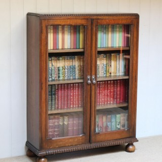 Oak Glazed Bookcase