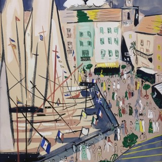 The  Port, St. Tropez by John Paddy Carstairs (1910 – 1970)