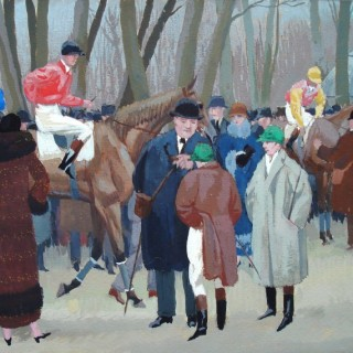 Aux Courses, 1923 by Maurice Taquoy (1878 – 1952)