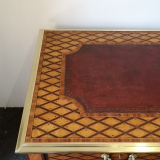 FINE 19TH CENTURY ENGLISH SATINWOOD WRITING TABLE ATTRIBUTED TO DONALD ROSS