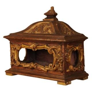 Giltwood Reliquary Casket, Spain circa 1860