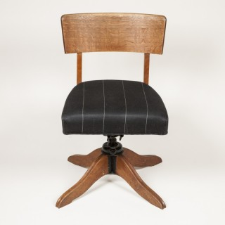 oak revolving  desk chair, circa 1935