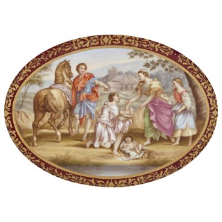 19th Century oval porcelain plaque by Royal Vienna