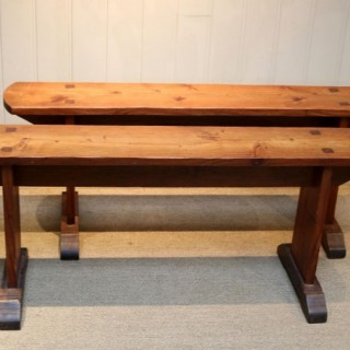 Pair Of French Farmhouse Benches