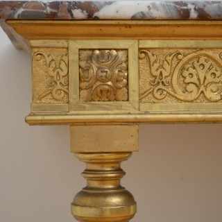 Beautiful Turn of the Century Giltwood Console Table