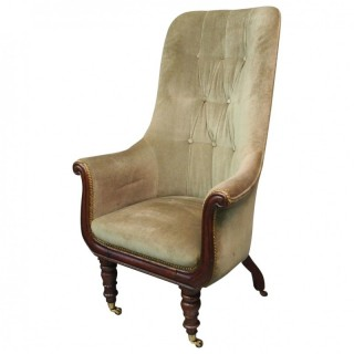 William IV Upholstered Library / Easy Chair