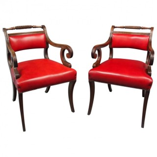 Pair of Scottish Regency Armchairs