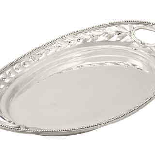 Sterling Silver Galleried Drinks Tray - Antique Victorian (1879)